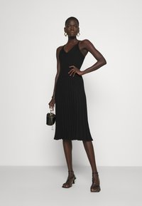 Milly - CAMI TOP PLEATED MIDI DRESS - Cocktail dress / Party dress - black - 1