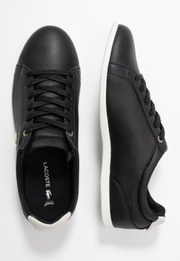 Lacoste - REY LACE - Baskets basses - black/offwhite - 3