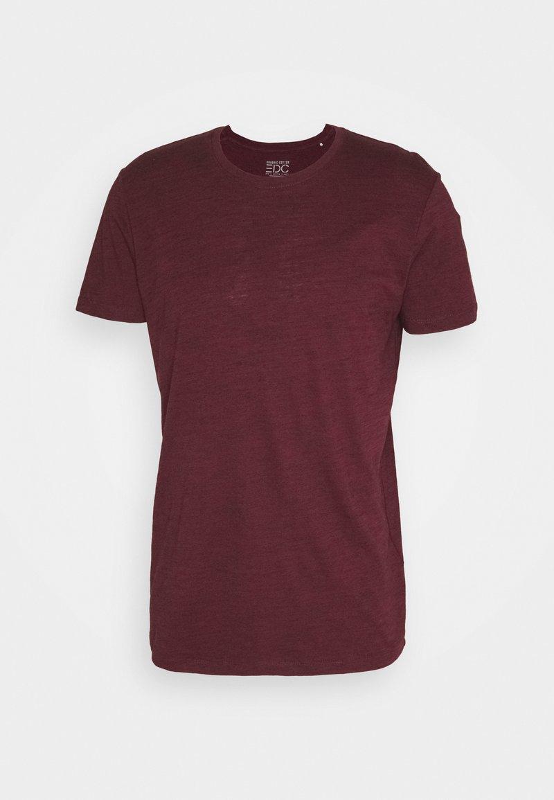 edc by Esprit - SPACE - Basic T-shirt - bordeaux red