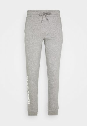 JJIGORDON SIDE SOFT PANTS - Tracksuit bottoms - light grey melange