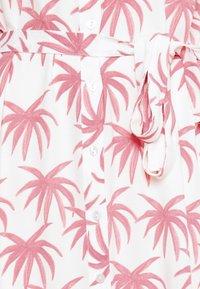 Fabienne Chapot - BOYFRIEND CARA DRESS - Shirt dress - white/pink - 6