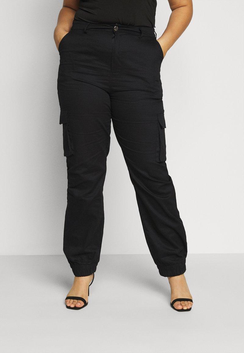 Missguided Plus - TROUSER - Pantaloni cargo - black