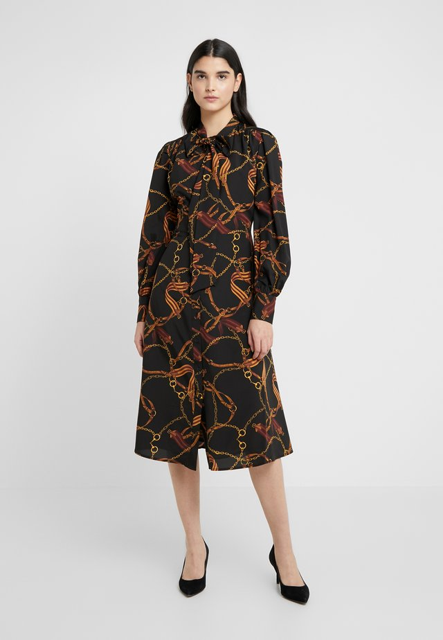 DRESS - Shirt dress - black/multi