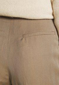 Hope - FLARE TROUSERS - Trousers - beige herringbone - 4