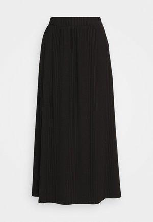 OBJCELIA LONG SKIRT - A-line skirt - black