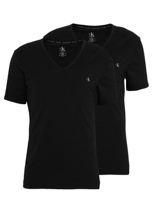 ONE NECK 2 PACK  - Unterhemd/-shirt - black