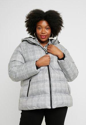 LADIES GLENCHECK PUFFER JACKET - Winter jacket - white/black