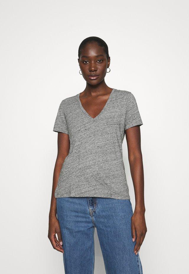 WHISPER V NECK TEE - T-Shirt basic - pewter