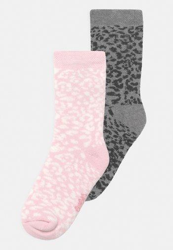 LEO 2 PACK - Socks - grey/rose