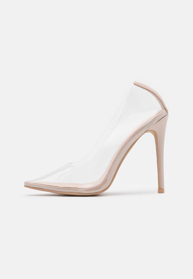 ELDA - High heels - clear/nude