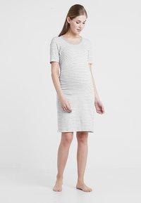 Boob - NIGHT DRESS - Negligé - white/grey melange - 1