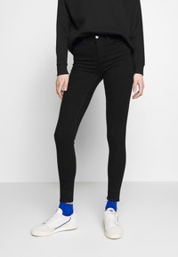 ONLY - ONLIDA MIDWAIST  - Vaqueros pitillo - black denim - 0