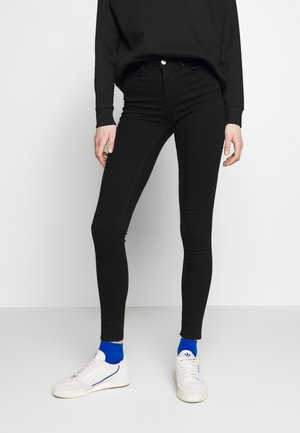 ONLIDA MIDWAIST  - Jeans Skinny Fit - black denim