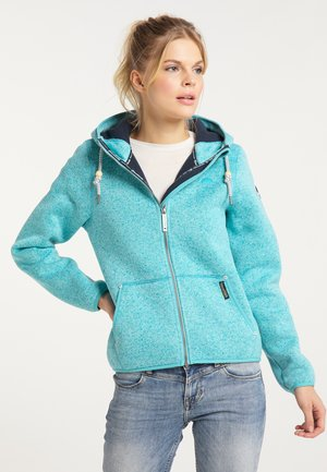 Fleece jacket - türkis melange