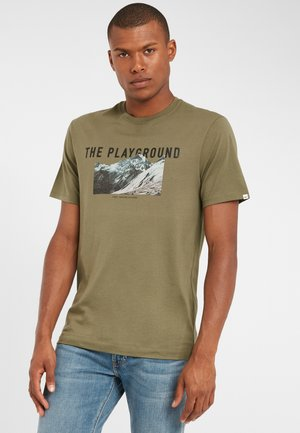 PLAYGROUND - Print T-shirt - dusty olive