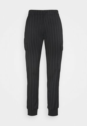 TECNICAL STRIPES BARRE - Tracksuit bottoms - nero