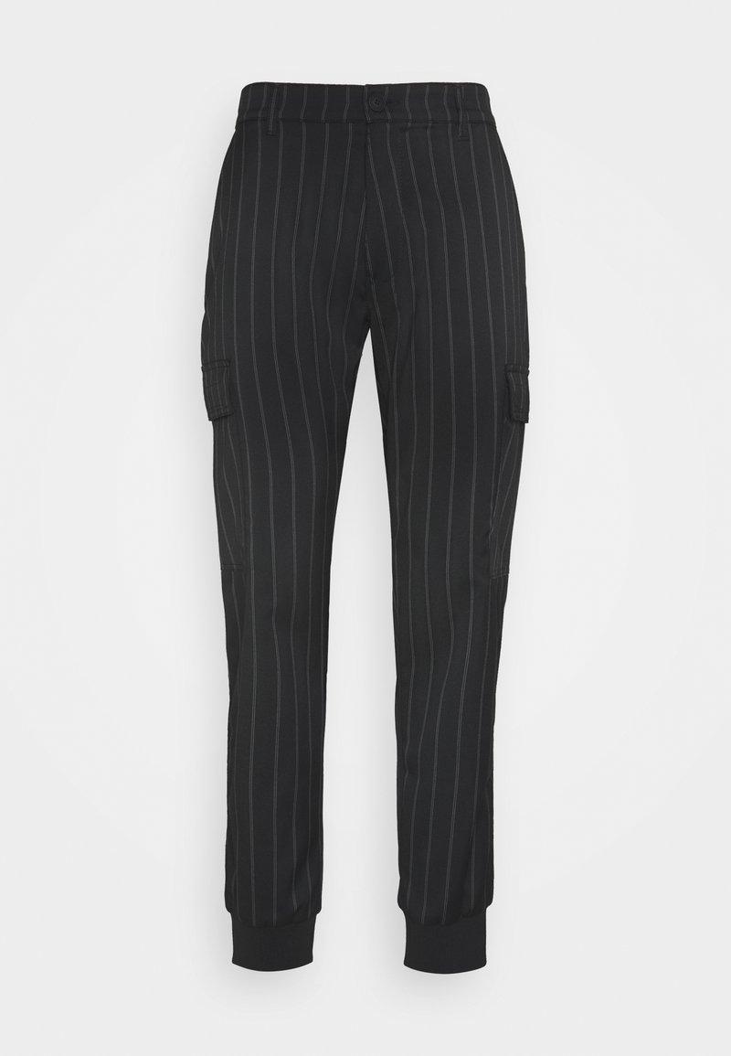 Versace Jeans Couture - TECNICAL STRIPES BARRE - Pantaloni sportivi - nero