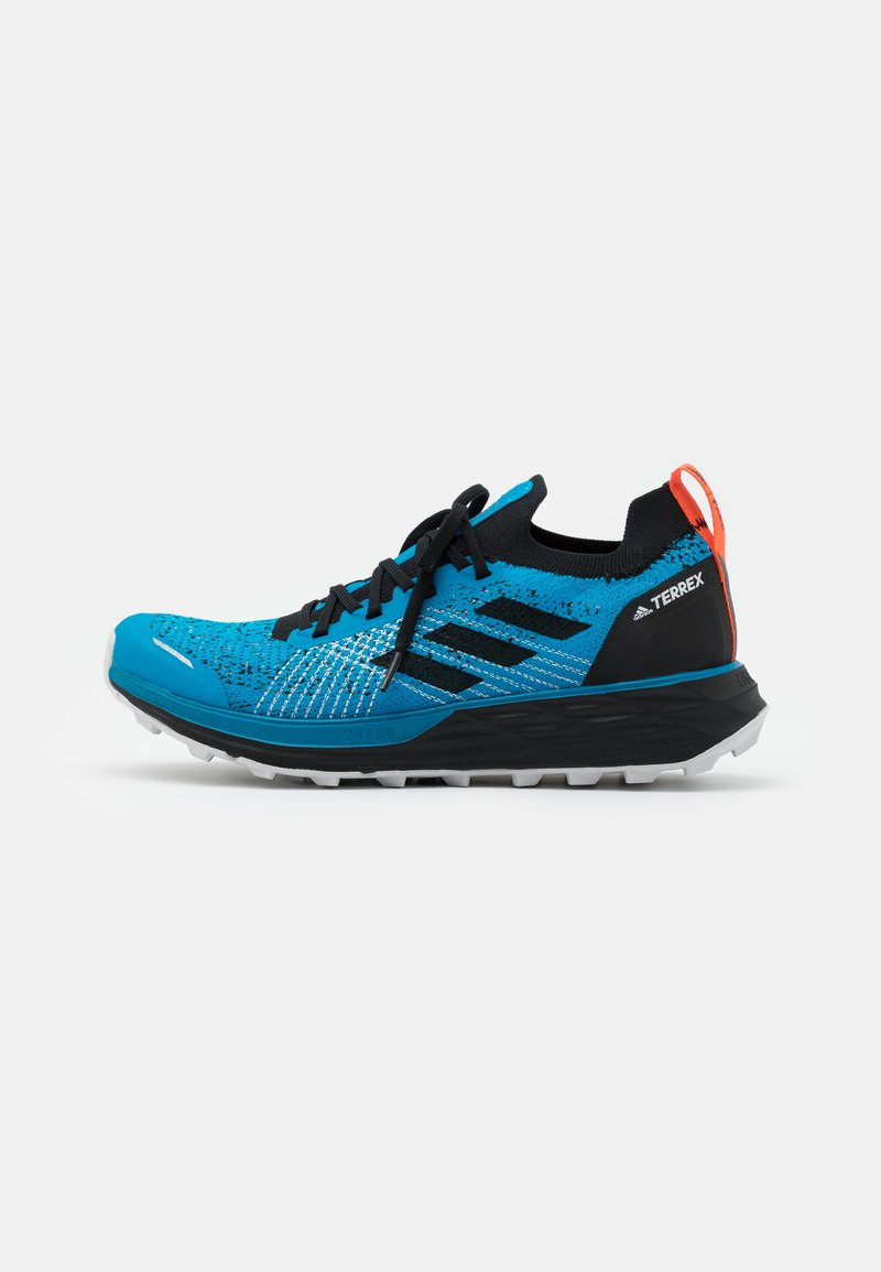 adidas Performance - TERREX TWO PARLEY - Trail running shoes - shadow blue/core black/true orange