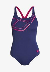 ESSENTIALS SWIM PRO BACK ONE PIECE - Swimsuit - navy/freak rose