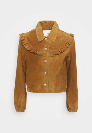 BENDRIE - Leather jacket - camel