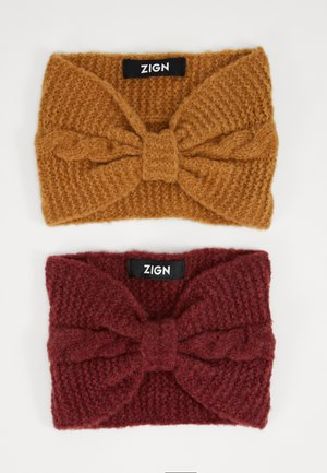 2 PACK - Ear warmers - nude/bordeaux