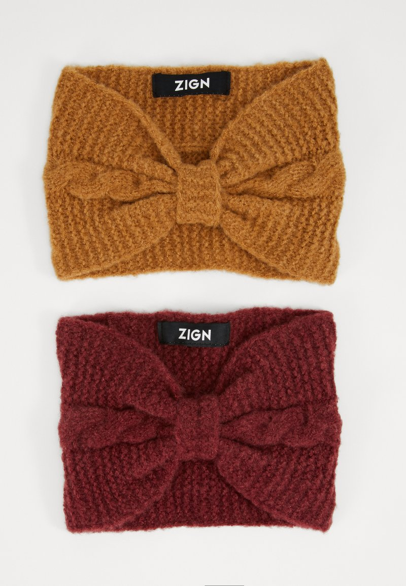 Zign - 2 PACK - Ear warmers - nude/bordeaux
