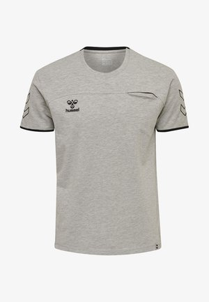 HMLCIMA  - T-shirt print - grey melange