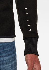 G-Star - JIRGI ZIP TAPE DETAIL FUNNEL LONG SLEEVE - Cardigan - dk black/raven - 3