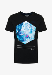 Jack & Jones - JCOPAX TEE CREW NECK SLIM FIT - Print T-shirt - black - 3