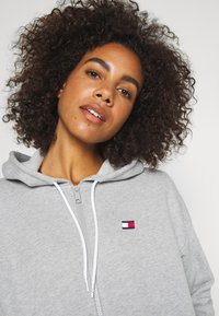 Tommy Hilfiger - HOODY PIPING - Zip-up hoodie - grey heather - 3