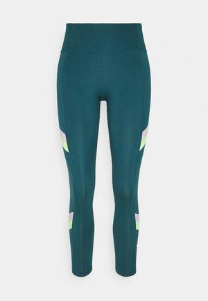 ONE STRIPE 7/8  - Legging - dark teal green/lime glow