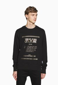 Versace Jeans Couture - CREW LABEL LOGO - Sweater - black - 0