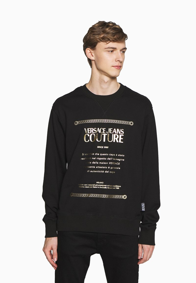 Versace Jeans Couture - CREW LABEL LOGO - Sweater - black
