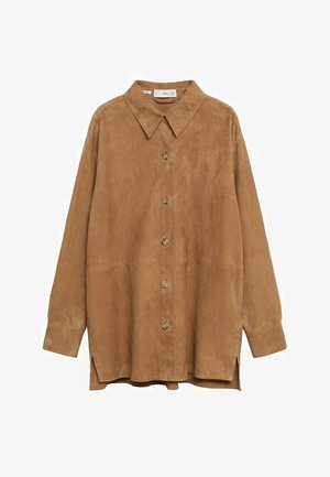 Button-down blouse - light brown
