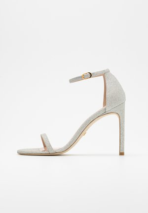 NUDISTSONG - High heeled sandals - platino