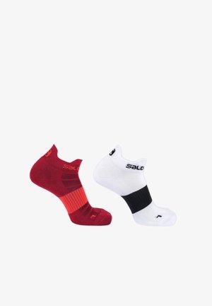 PRESANELLA - Sports socks - red dahlia+white/black
