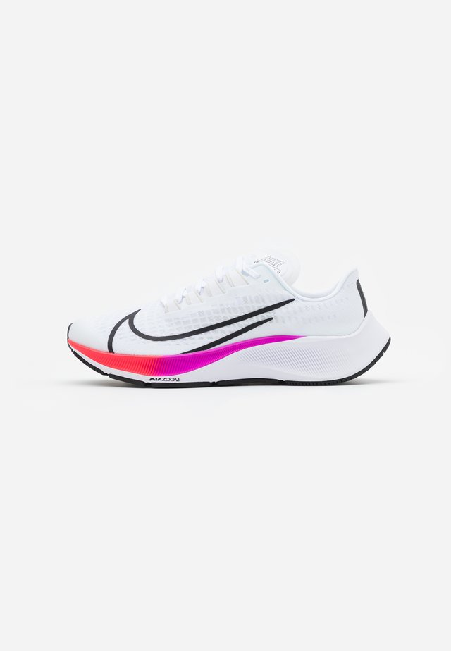 AIR ZOOM PEGASUS 37 UNISEX - Zapatillas de running neutras - white/jade aura/flash crimson/hyper violet