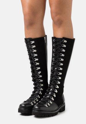 NANETTE HI - Lace-up boots - black colorado/black