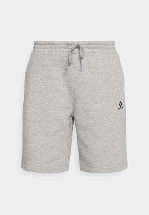 EMBROIDERED STAR CHEVRON - Shorts - mottled grey