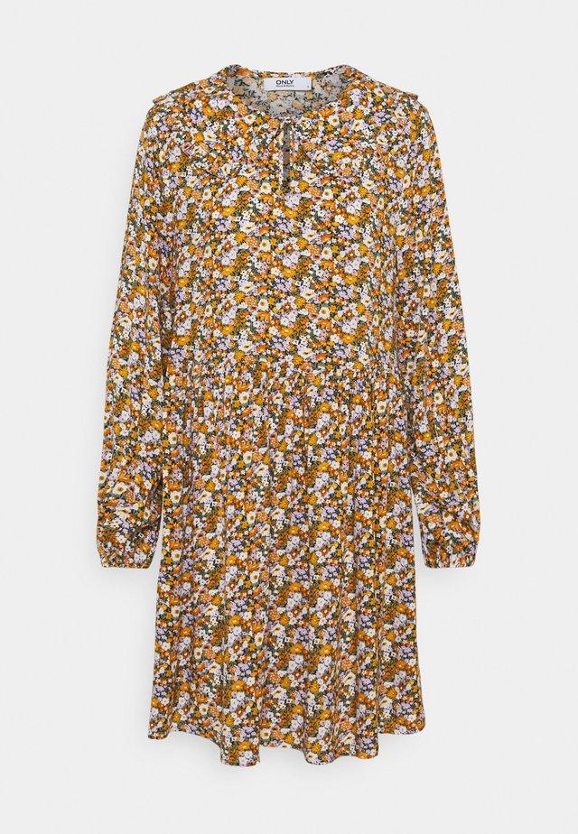 ONLTONJA COLLAR DRESS - Shirt dress - purple/orange