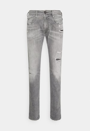 ANBASS AGED ECO - Slim fit jeans - medium grey