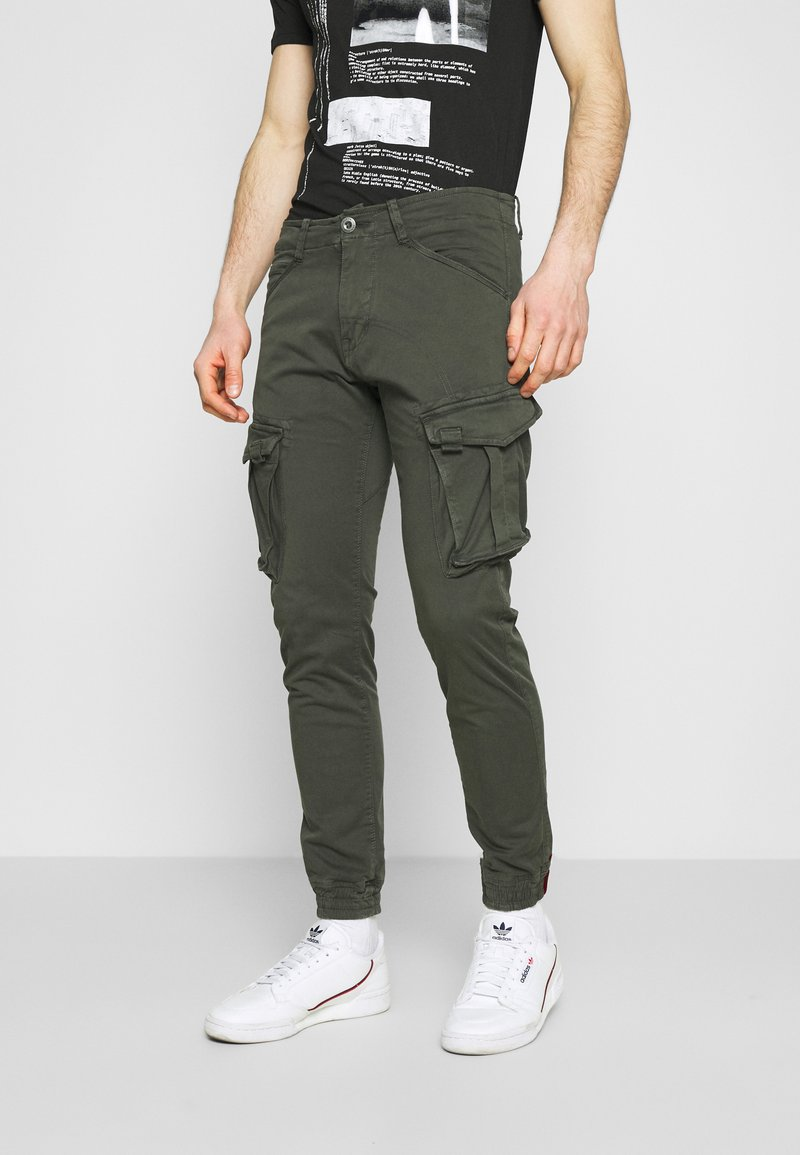 Alpha Industries - SPY PANT - Cargo trousers - greyblack