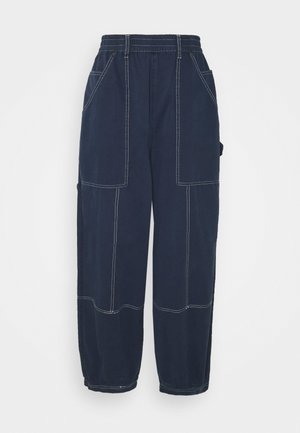 BAGGY CARGO PANT - Cargo trousers - navy