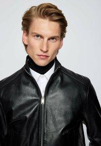 BOSS - NAFAN - Leather jacket - black - 3
