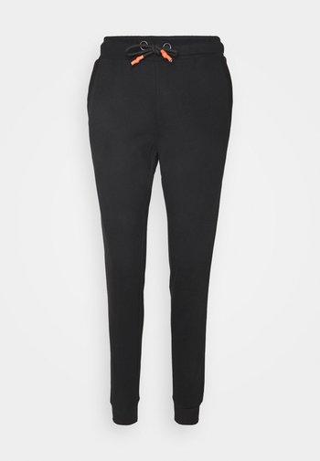 ONPALIDA REGULAR PANTS  - Spodnie treningowe - black/coral