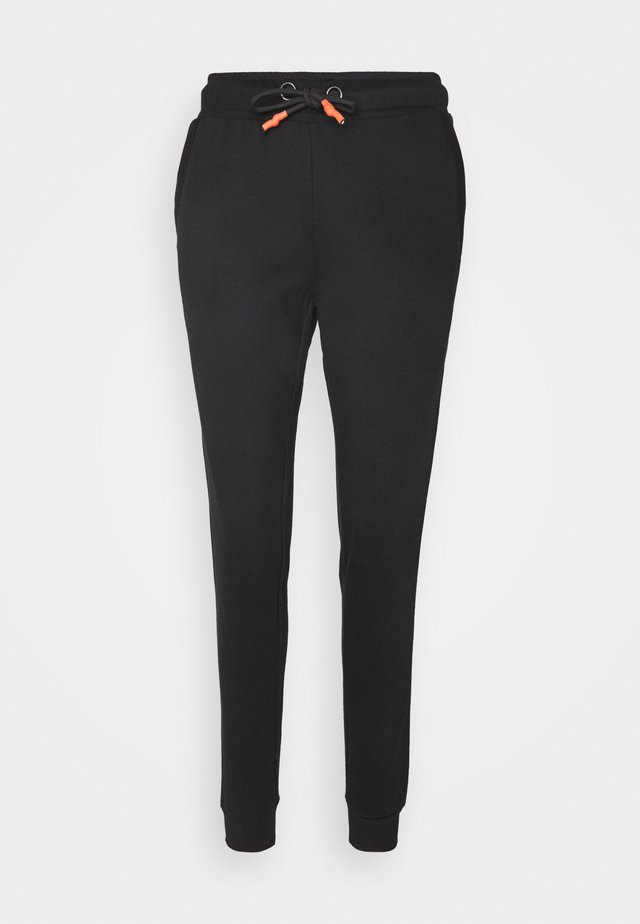 ONPALIDA REGULAR PANTS  - Tracksuit bottoms - black/coral