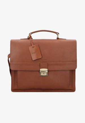 BURKELY VINTAGE SCOTT  - Briefcase - cognac
