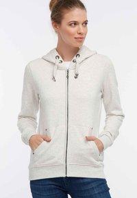 DreiMaster - Zip-up hoodie - white melange - 0