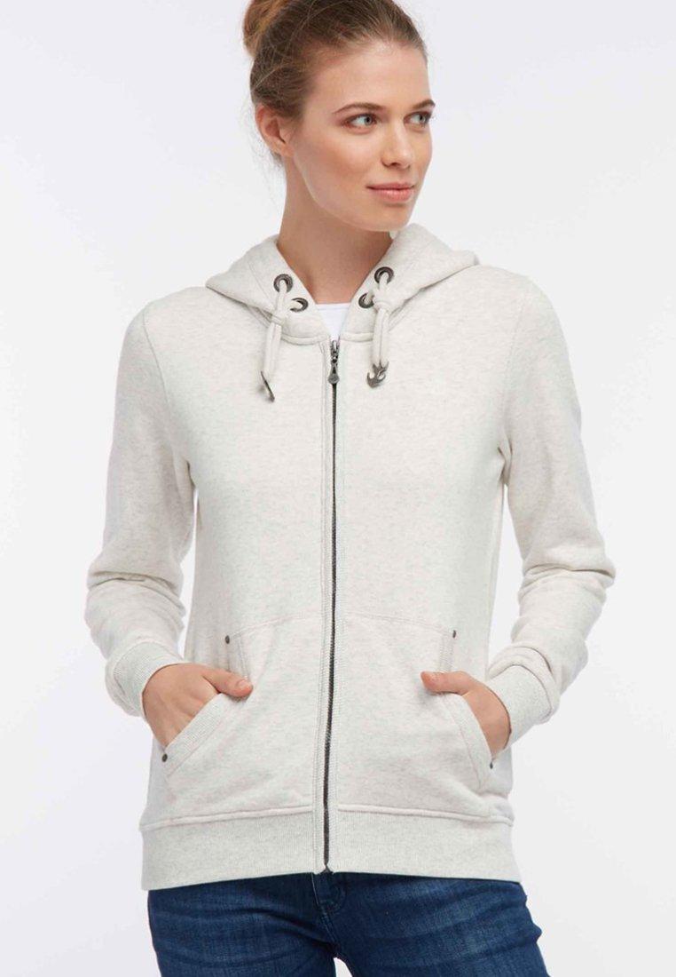 DreiMaster - Zip-up hoodie - white melange