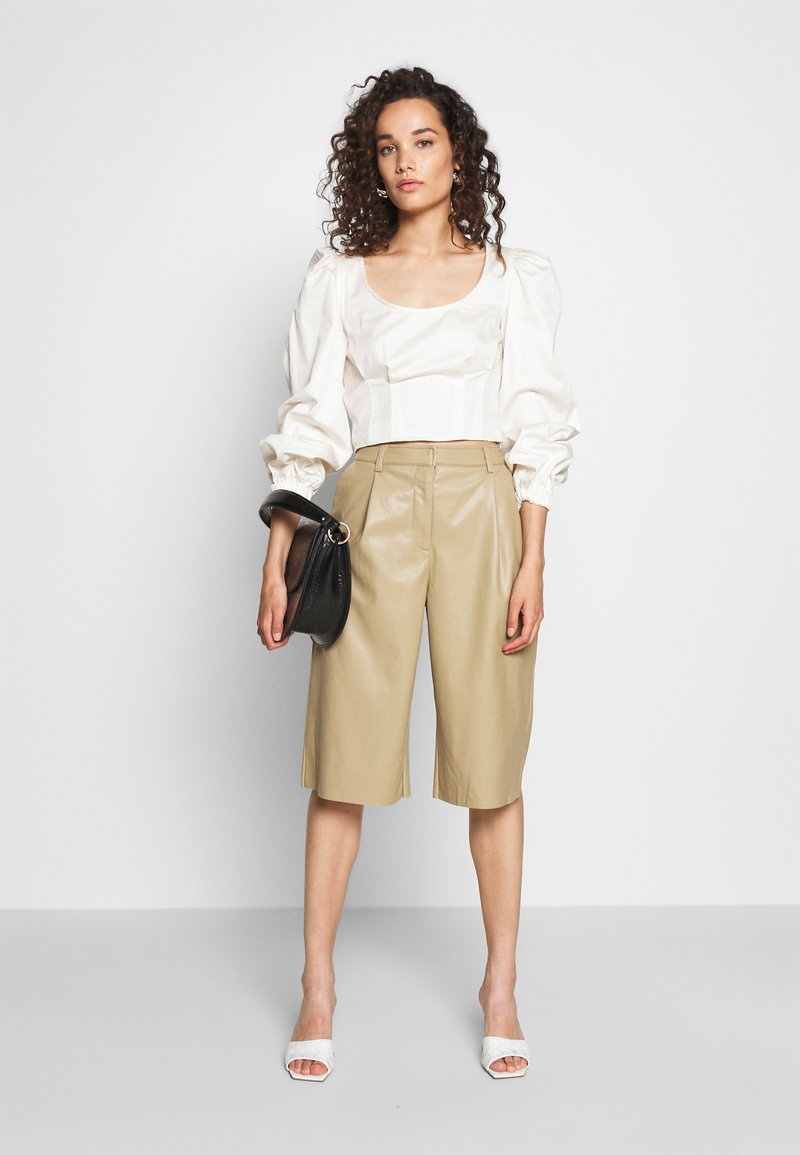 Who What Wear Shorts - stone/stein PTfPPd
